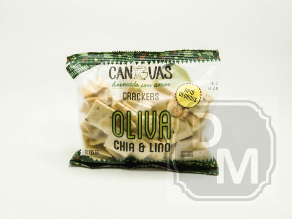 Canvas Crackers Oliva, Chia, Lino