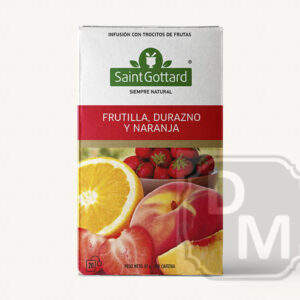 Té Frutilla, Durazno, Naranja Saint Gottard