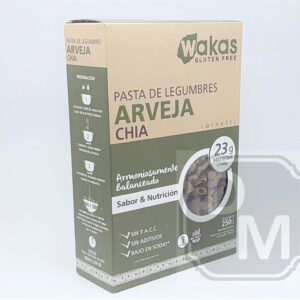 Fideos Proteicos de Arvejas y Chia - Wakas