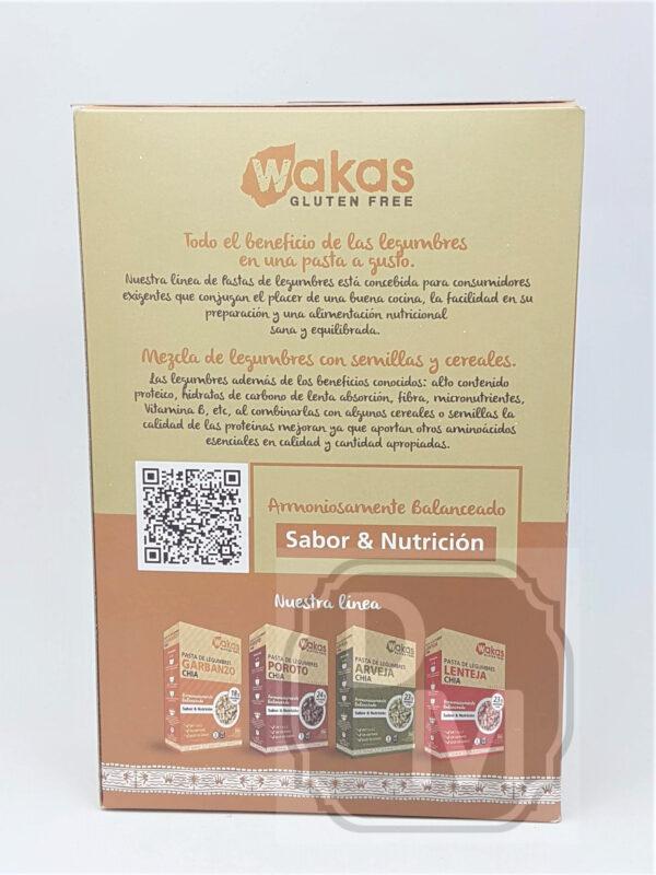 Fideos Proteicos de Garbanzos y Chia - Wakas