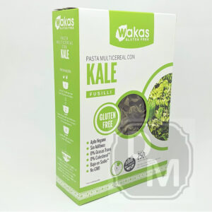 Fideos Multicereal con Kale Wakas